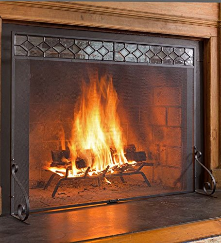 Why Choose Small Diamond Glass Flat Guard Fireplace Screen