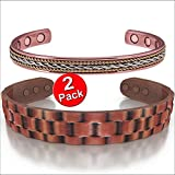 Copper Magnetic Bracelets Men Women, Joint Pain, Value Pack, Earth Therapy Jewelry