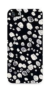AMEZ designer printed 3d premium high quality back case cover for Apple iPhone 5 (black white)