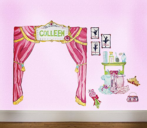 Oopsy Daisy Ballet Recital Peel and Place Wall Art, 54 by 60