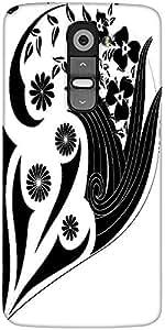 Snoogg Decor Floral Design Designer Protective Back Case Cover For LG G2