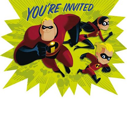 The Incredibles Invitations 8ct