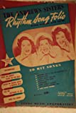 The Andrews Sisters Rhythm Song Folio with Words and Music