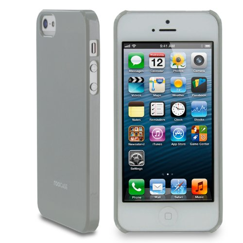 rooCASE Ultra Slim Gloss (Gray) Shell Case for Apple iPhone 5S / 5