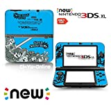 Ci-Yu-Online VINYL SKIN [new 3DS XL] - Super Smash Bros. Blue - Limited Edition STICKER DECAL COVER for NEW Nintendo 3DS XL / LL Console System