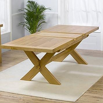Avignon Solid Oak Extending Dining Tables (Size 200cm/160cm)