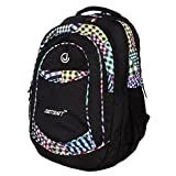 Justcraft Classic Black And Printed Multi White 35 L Ackpack