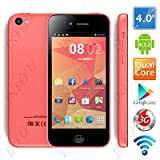 "(FLYING) 4.0"" Screen MTK6572W Dual Core Android 4.2.2 Unlocked Phone 2MP CAM 512MB RAM 4GB ROM 3G WiFi"