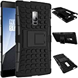 SDO™ Rugged Dual Layer Kickstand Hybrid Warrior Case Back Cover for OnePlus Two - Black