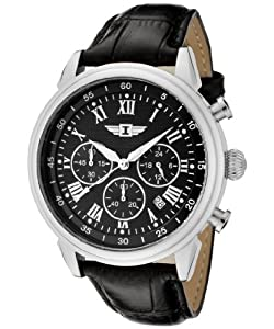 I By Invicta Men's 90242-001 Chronograph Black Dial Black Leather Watch from Invicta
