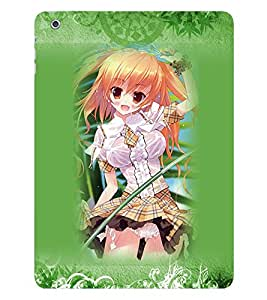 Fuson 3D Printed Girly Designer back case cover for Apple iPad Air 2 - D4166