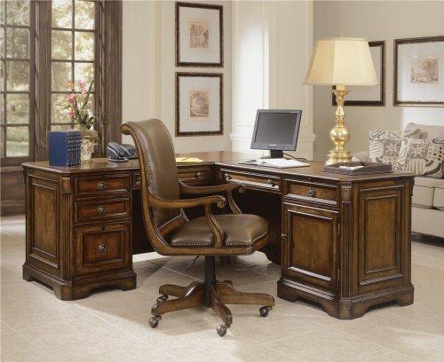 Hooker Furniture Brookhaven Executive L-Shaped Right Return