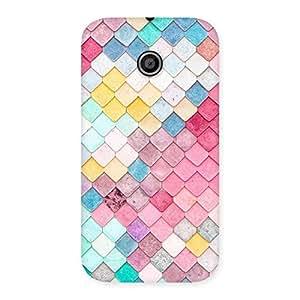 Enticing Colorfull Rocks Multicolor Back Case Cover for Moto E