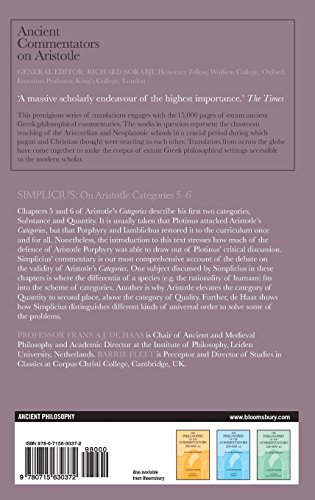 Simplicius: On Aristotle Categories 5-6 (Ancient Commentators on Aristotle)