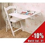 SoBuy Wandklapptisch, Küchentisch, Kindermöbel, Wandtisch, 70x45cm FWT04-W