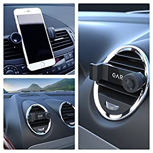 "iPhone Car Mount by enviCAR - The 1 Most Trusted Universal Cell Phone / Smartphone Air Vent Holder - Vehicle Cradle with 360° Rotate & Swivel for Apple iPhone 6s 6 (4.7"") / Plus (5.5"") and others"