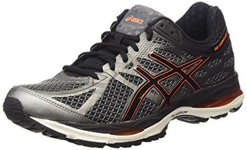 ASICS Gel-cumulus 17 - Scarpe Running Uomo, Grigio (smoked Pearl/black/flash Orange 9290), 45 EU