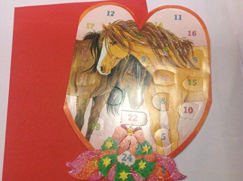 Adventskalenderkarte-Pferdeweihnacht-in-Herzform