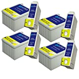 4 Sets of Compatible Black & Colour Printer Ink Cartridges to replace T051/T052 (8 Inks) for use in Epson Stylus Colour 740, 740i, 760, 800, 800N, 810, 850, 850N, 850NE, 860, 1160, 1500, 1520, 1520K, 1520H & Epson Stylus Scan 2000, 2500, 2500 Pro