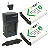 Wasabi Power Battery (2-Pack) and Charger for Sony NP-BX1, NP-BX1/M8 and Sony Cyber-shot DSC-H400, DSC-HX50V, DSC-HX300, DSC-HX400, DSC-RX1, DSC-RX1R, DSC-RX100, DSC-RX100 II, DSC-RX100 III, DSC-RX100M2, DSC-RX100M3, DSC-WX300, DSC-WX350, HDR-AS10, HDR-AS15, HDR-AS30V, HDR-AS100V, HDR-AS100VR, HDR-CX240, HDR-MV1, HDR-PJ275