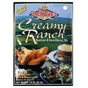Uncle Dan's Seasoning and Salad Dressing Mix, Creamy Ranch, 2 Count of 1.5-Ounce Pouches (Pack of 12)