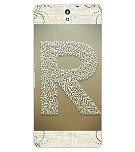 "ColourCraft Alphabet ""R"" Design Back Case Cover for SONY XPERIA C5 ULTRA DUAL"