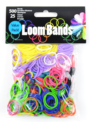 Touch of Nature 525-Piece Value Pack Loom Bands, Primary Color Assortment