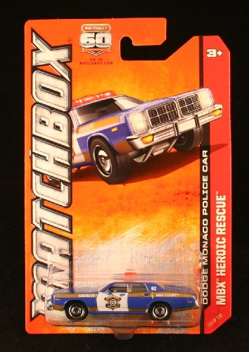 DODGE MONACO POLICE CAR * MBX HEROIC RESCUE * 60th Anniversary Matchbox 2013 Basic Die-Cast Vehicle (#110 of 120)