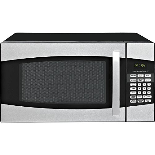 Hamilton Beach 0.9 cu ft Auto Digital LED Display Countertop Microwave Oven, Black (Under Cabinet Toaster Oven Mount compare prices)