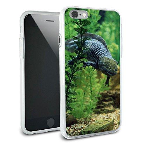 Axolotl - Mexican Salamandar - Water Monster Protective Slim Hybrid Rubber Bumper Case for Apple iPhone 6