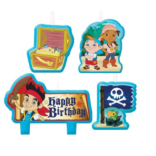 Jake and the Never Land Pirates Birthday Candles - Birthday and Theme Party Supplies - 4 Per Pack - 1