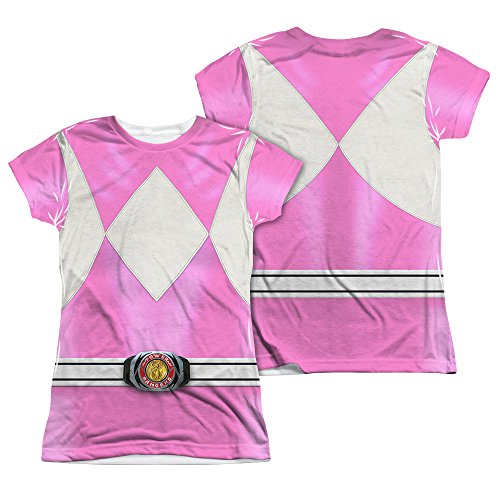 Power Rangers Children's Live Action TV Series Pink Costume Junior 2Side Print T