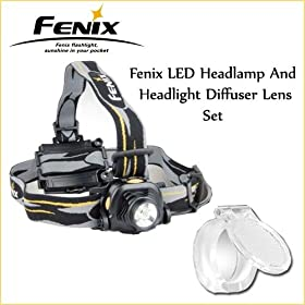Fenix HP10 225 Lumen Cree XR-E Q5 LED Headlamp With Fenix Headlight Diffuser Lens
