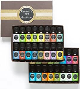 Ultimate Aromatherapy 100% Pure Therapeutic Grade Essential Oils Set (Essential Oil Gift Pack)- 32/ 10 ml