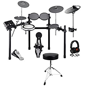 yamaha dtx522k electronic drum kit set extra pcy90at cymbal throne headphones. Black Bedroom Furniture Sets. Home Design Ideas