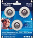 Norelco HQ167 Advantage &Cool Skin Replacement Razors Head