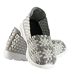 Heal USA Kids 4C\'s Unisex Shoes/White Outsole Glittery Silver 10 US