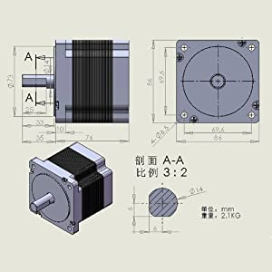 Key Unit Of Motor 86 Step Two-Phase HS Stepper Motor With 3.5N.M Torgue by NITBUY