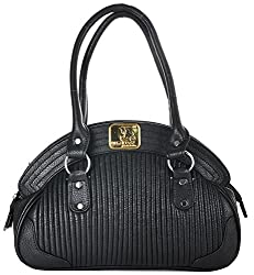 4EM-BOSS Womens Black Leather Handbag