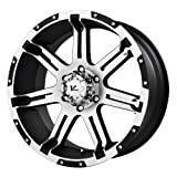 V-Rock Overdrive Matte Black Wheel with Machined Spoke and Lip (17x9
