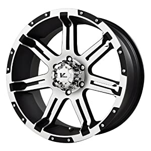 "V-Rock Overdrive Matte Black Wheel with Machined Spoke and Lip (17x9""/6x135 mm)"