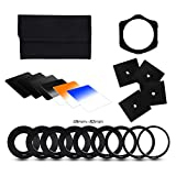 Klix Filter kit 6 Filter, 4 Bokeh and 9 Filter Adaptors Ring (49-82mm) and 1 ABS Adaptor Holder + Carrying Case
