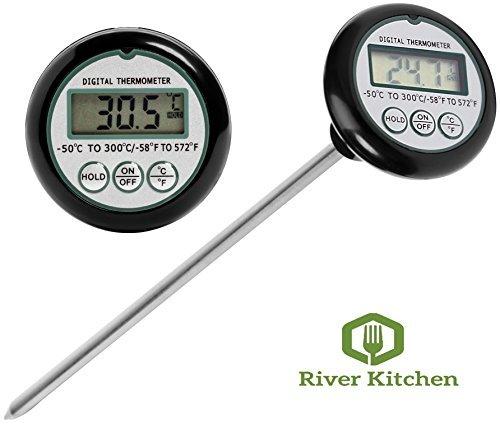 Thermomètre numérique-20,3cm Sonde, rapide et précis lecture instantanée de la viande, bonbons et lait Thermomètre