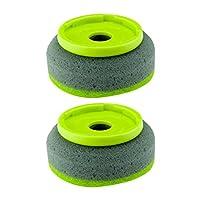 Casabella 2-Pack Smart Scrub Soap Dispensing Palm Sponge Brush Refill for Item No.15938 and 15988