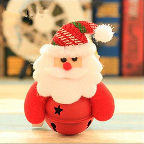 10 CM x 8 CM, Christmas Tee Bell Doll (Santa Claus)