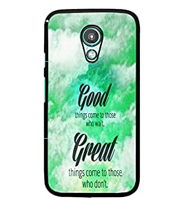 PrintDhaba Quote D-4468 Back Case Cover for MOTOROLA MOTO G2 (Multi-Coloured)