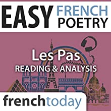 Les Pas (Easy French Poetry): Reading & Analysis Audiobook by Paul Valéry Narrated by Camille Chevalier-Karfis