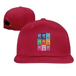 YAJENNIE Unisex Colorful Roar Flat Baseball Cap Hats