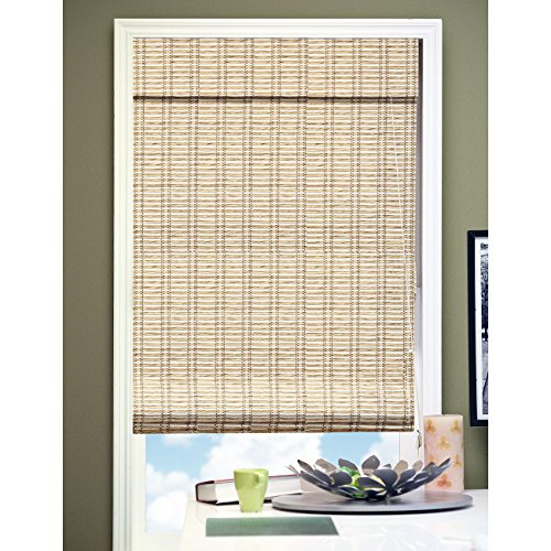 Chicology RMTB3672 Roman Shade, Privacy Fabric, Bamboo Look, Tuscan Bronze, 36