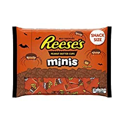 REESE\'S Halloween Snack Size Minis, (9.8-Ounce Bag)